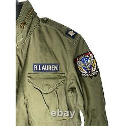 Polo Ralph Lauren Mens Cotton Twill Feild Jacket Air Force med MSRP $298 Size L