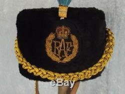QE2 Royal Air Force Musicians Plumed Busby & Chinstrap