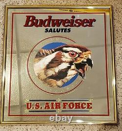 RARE Vintage Budweiser Salutes Military Mirror Set ARMY MARINES NAVY AIR FORCE C