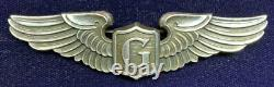 RARE WW2 US Army Air Force 3in Sterling GLIDER PILOT Full Size LGB Wing Pinback