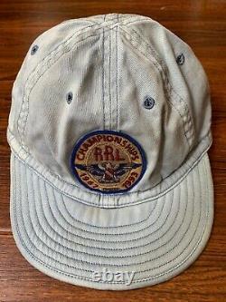 RRL Polo Ralph Lauren championships 1993 Hat Cap air force navy Long 92 denim