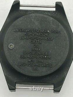 Rare Apr 1991 Watch H3 US Army Military Pilot Air Force AF MIL-W-46374E RUNS