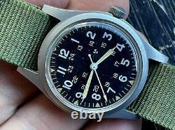 Rare Benrus H3 US Army Military Pilot Air Force AF MIL-W-46374B June 1982 RUNS