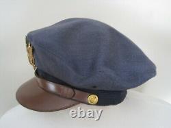 Rare Us Army Air Corps Air Force Transitional Crusher Hat Visor Cap