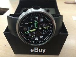 Rare Victorinox Swiss Army Air Force Seaplane Quartz Chronograph Watch With Band