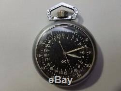 Rare WWII GCT ELGIN A-13 US Army AIR FORCE NAVIGATION Pocket watch BW RAYMOND