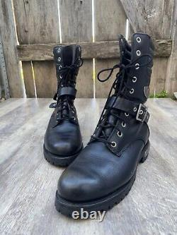 Red Wing Women's Black Leather Motorcycle Boots Style 1675 Black Boots Sz9