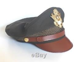 Reproduction US Army Air Force Bancroft Flighter Crusher Cap Hat USA Made 7-3/8