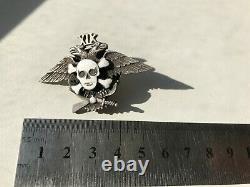 Russian White Army CIVIL War Air Force Pilot Skull Silver Badge