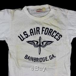 Scarce 1940s Usaaf Army Air Forces Pt White Cotton T-shirt Bainbridge Georgia Ga