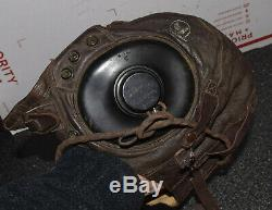 Selby Shoe A-11 Small Ww2 Us Army Air Force Pilots Leather Flight Flying Helmet