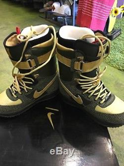 Snowboard boots 8.5 mens Nike zoom Air Force 1 one first edition army $save$ dm