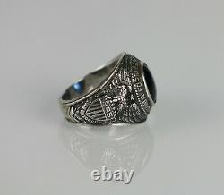 Sterling Silver Ring US Army Air Forces 1945 SAN ANTONIO OCS Size 10