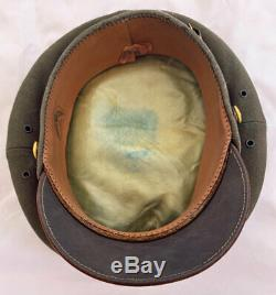 Superb US WW2 Soft Bill 50 Mission US Army Air Forces Pilot Crusher Visor Hat