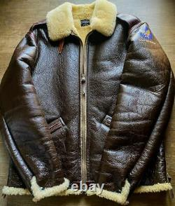 THE REAL McCOY'S TYPE B-6 ARMY AIR FORCES Flight Jacket Real sheepskin 42