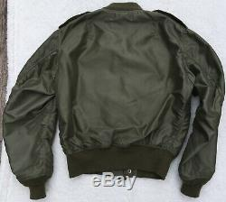 The Real McCoy's Type L-2 Olive Nylon Flight Jacket Army Air Force Men's 38 RARE