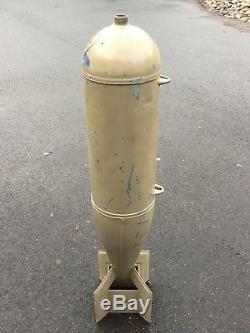 U. S. 100 pound MK 15 Metal Dummy Practice Military Army Navy Air force Bomb