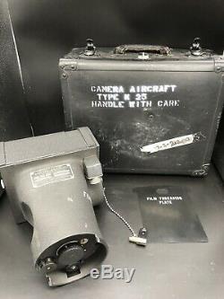 U. S. Army Air Force WW2 Aircraft Camera Type K-25 Folmer Graflex WithCase