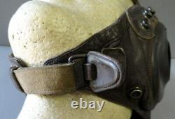 U. S. Army Air Forces Pilots Type A-11 Leather Flying Helmet-size Large