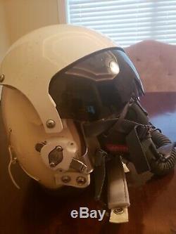 U. S. Army Gentex flight helmet, Iraq war action size large with bag, new gloves