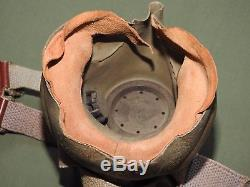 US Army AAF WW2 8TH AIR FORCE FIGHTER PILOT BRITISH TYPE G OXYGEN MASK Vtg RARE