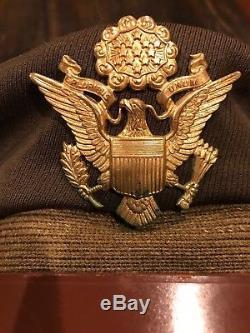 US Army Air Force AAF WW2 PILOT 50 MISSION CRUSH WOOL CRUSHER FLIGHT CAP