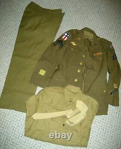/US Army Air Force Uniform ww2,20th AF CBI, SGT, size 38R, set