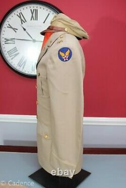 US WW2 USAAF Army Air Forces Uniform Group With Bancroft Flighter True Crusher
