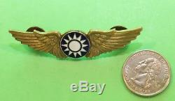 USAAF WWII Army Air Force Flying Tiger AVG Chinese Pilot Wing
