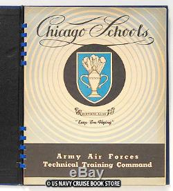 Us Army Air Force Ww II 1943 Chicago Schools Technical Training Command Yearbook