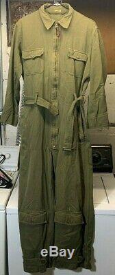 VINTAGE WW11 1941-1945 WW2 USAAF Army Air Forces Summer Flight Suit YT36