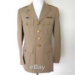 VINTAGE WW2 ARMY AIR FORCE USAF 1945 UNIFORM JACKET BULLION PATCH 15th AAF