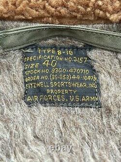 VINTAGE WW2 US ARMY US AIR FORCE B10 AFF BOMBER JACKET SIZE 40 Flight B 10
