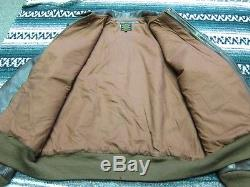 VTG USAAF US Army Air Force A-2 Flight Bomber Aviator Leather Jacket Brown 42 L