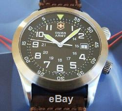 VicTorinoX SWISS ARMYRaRe Men AIRBOSS MACH 2 AiRFoRCeSapphire+OEM LeatherNICE