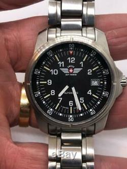 Victorinox Swiss Army 9 G 500 Automatic Chronograph Swiss Air Force Watch Date