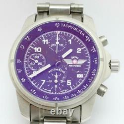 Victorinox Swiss Army Air Force 9G-600 Automatic Chronograph Watch Valjoux 7750