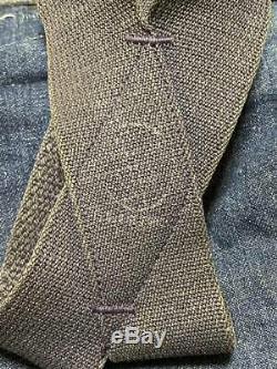 Vintage 1930's Montgomery Ward Denim Work Pants With US Army Air Force Suspender