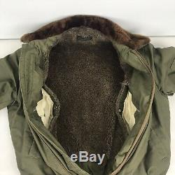 Vintage 40's WW2 US Army Air Force B-15 Military Flight Jacket