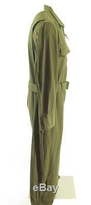 Vintage 40s WWII Flight Suit Mens 42 Deadstock Coveralls Army Air Force Crest