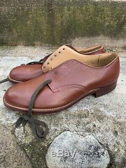 Vintage 50s US Army Air Force Shoes JE Smith Shoe Co 100% AUTHENTIC 8E