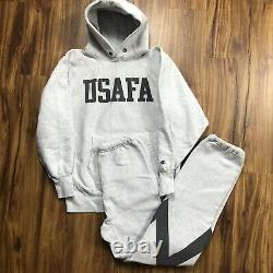 Vintage 80s 90s Reverse Weave Champion Sweatsuit Hoodie USAFA Air Force 3M LM