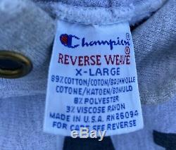 Vintage 90s Reverse Weave Champion Sweatshirt HoodIe USAFA Air Force 3M Size L