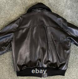 Vintage Authentic US Army Air Force Leather Flight Jacket Bomber Type A-2 RARE