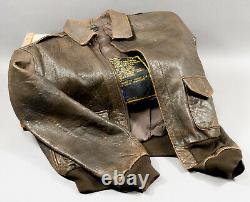 Vintage Avirex Type A-2 Leather Army Air Forces Flight Jacket 1978-01 Large
