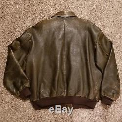 Vintage Avirex Type A-2 U. S. Army Air Force Leather Bomber Jacket XXL