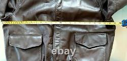 Vintage Avirex Type A-2 US Army Air Force Leather Flight 80's Bomber Jacket