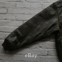 Vintage Avirex Type A-2 US Army Air Forces Leather Flight Jacket Size S