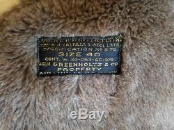 Vintage B-11 AIR FORCE JACKET Alpaca Mouton Military WWII US Army Flight Coat 40