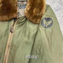 Vintage B-15 Army Air Force Jacket WWII 40s Size 36 Talon Zipper